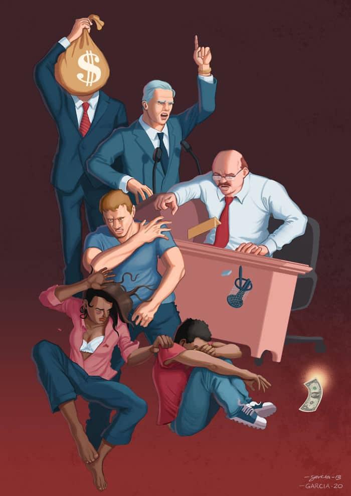 36 ilustrações que mostram o que há de errado com nossa sociedade 10