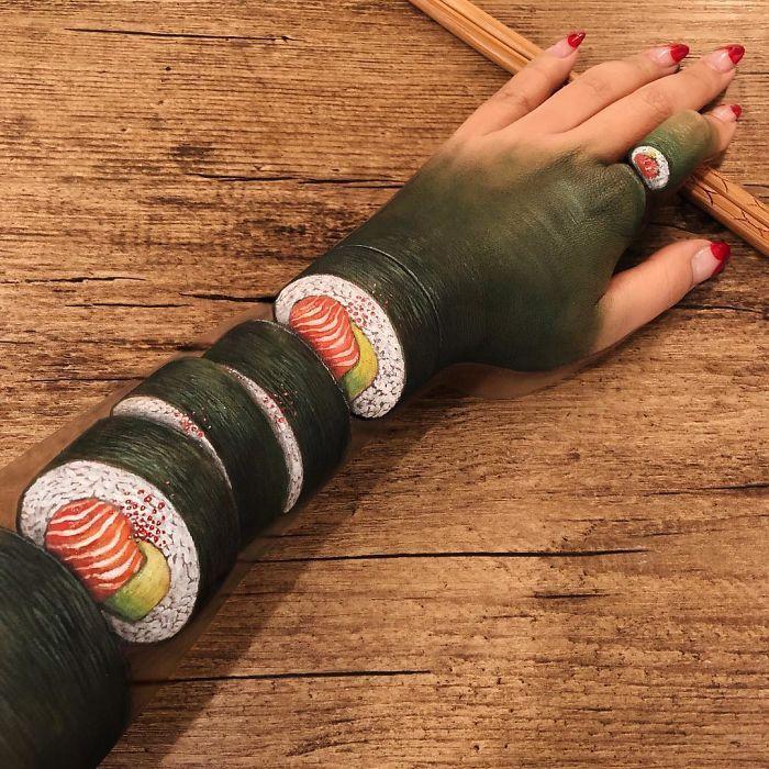 Maquiadora criar ilusões de ótica incrível em pernas e braços (30 fotos) 4