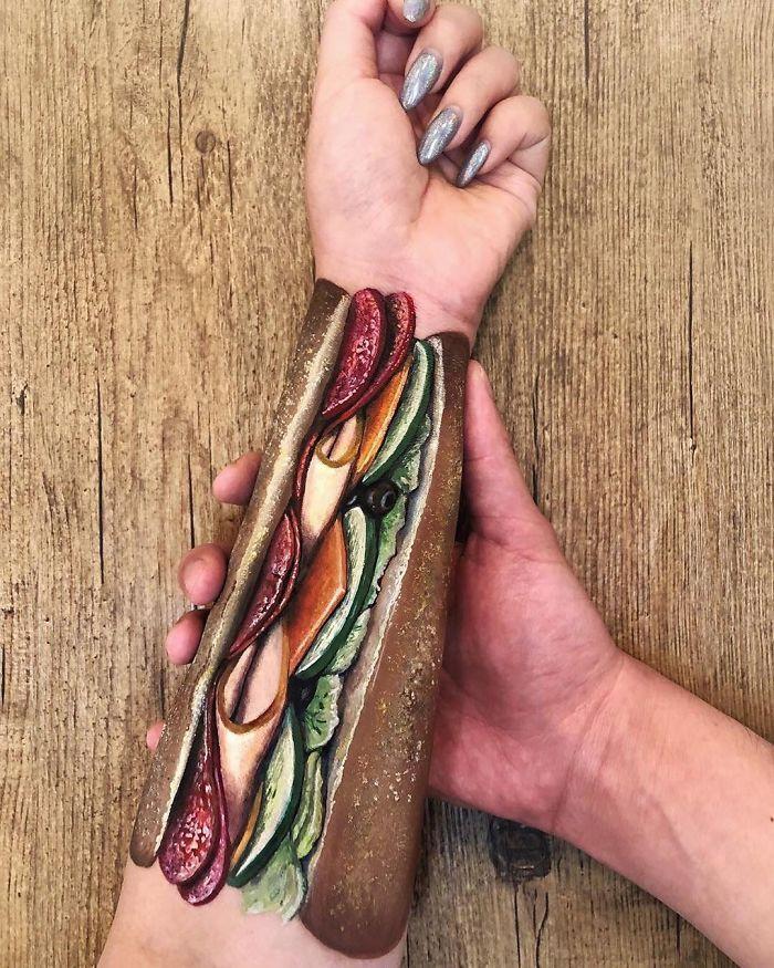 Maquiadora criar ilusões de ótica incrível em pernas e braços (30 fotos) 5