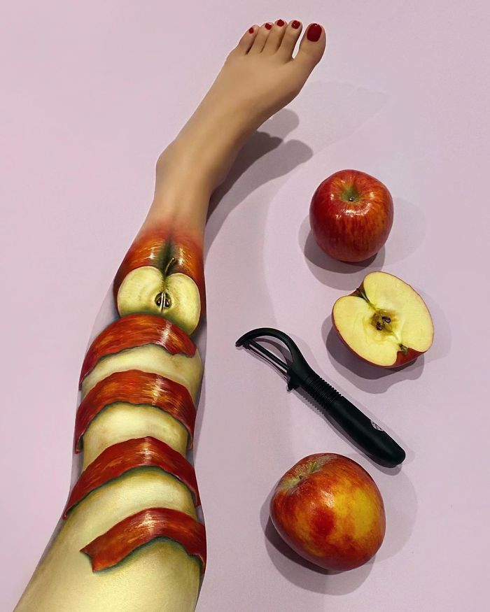 Maquiadora criar ilusões de ótica incrível em pernas e braços (30 fotos) 9