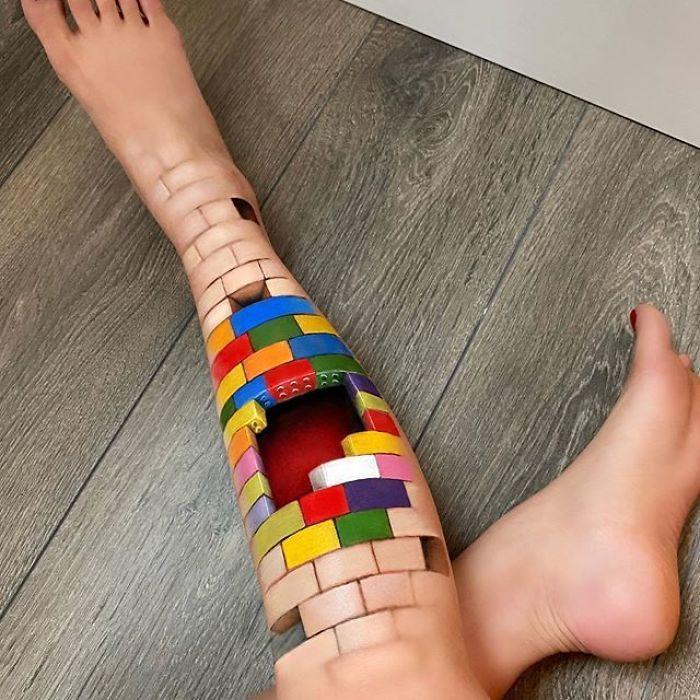 Maquiadora criar ilusões de ótica incrível em pernas e braços (30 fotos) 16