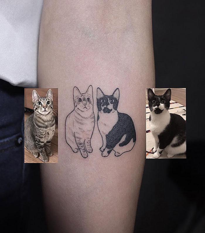45 pessoas que fizeram tatuagens absolutamente incríveis de gatos 21