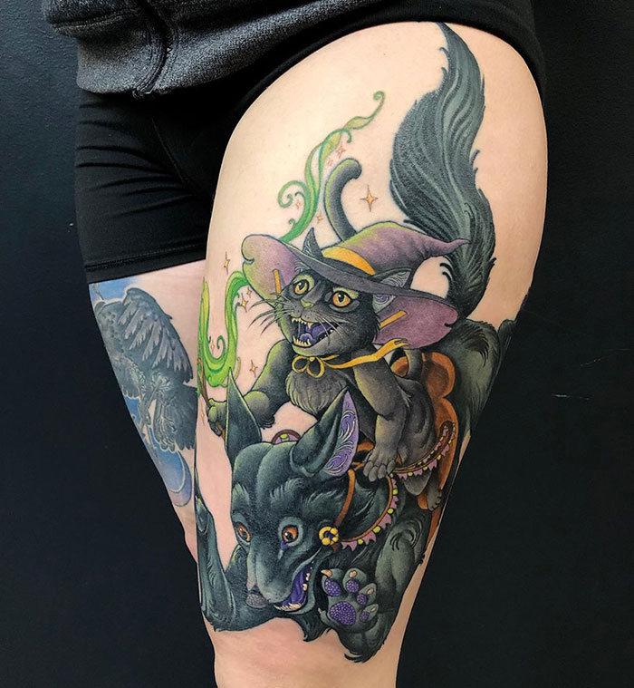45 pessoas que fizeram tatuagens absolutamente incríveis de gatos 22