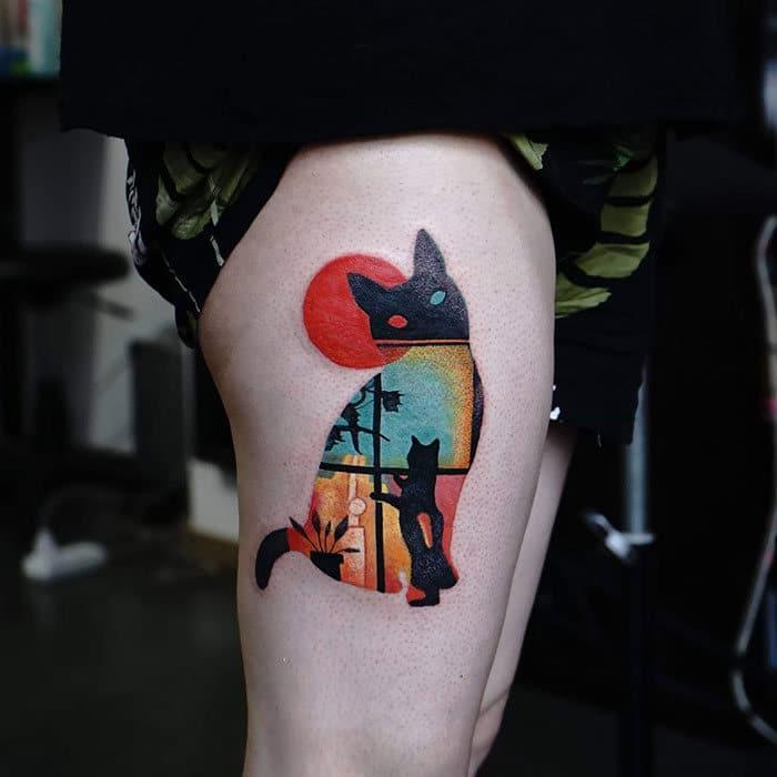 45 pessoas que fizeram tatuagens absolutamente incríveis de gatos 23