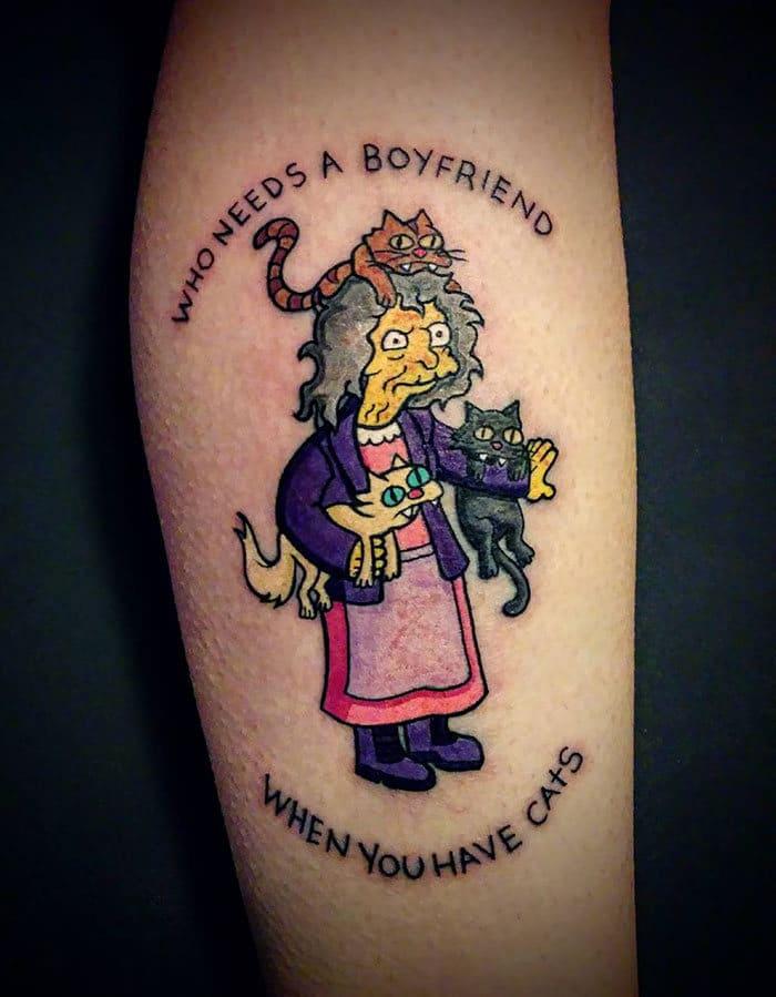 45 pessoas que fizeram tatuagens absolutamente incríveis de gatos 28