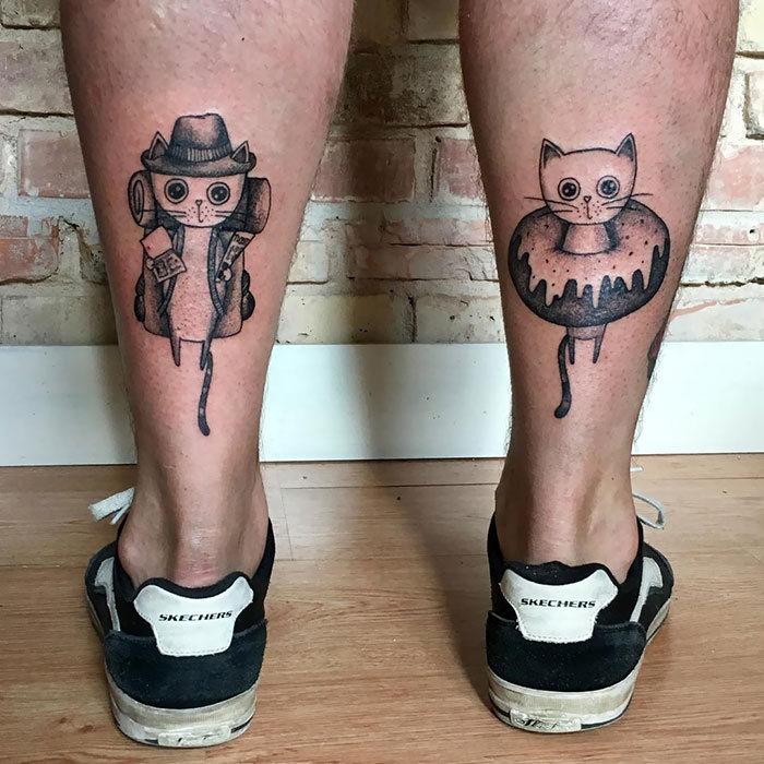 45 pessoas que fizeram tatuagens absolutamente incríveis de gatos 31