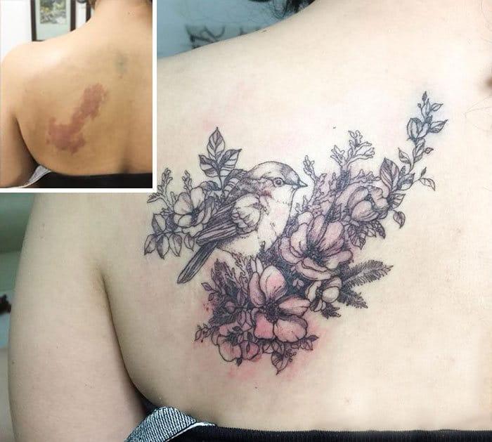 30 pessoas que pediram para encobrir suas cicatrizes com tatuagem 32