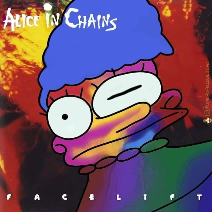 Capas de álbuns de metal divertidamente recriadas com personagens dos Simpsons 7