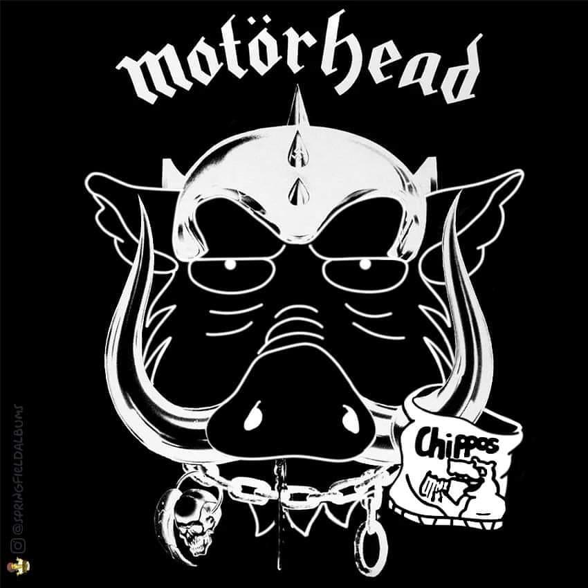 Capas de álbuns de metal divertidamente recriadas com personagens dos Simpsons 9