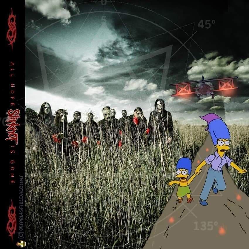 Capas de álbuns de metal divertidamente recriadas com personagens dos Simpsons 11
