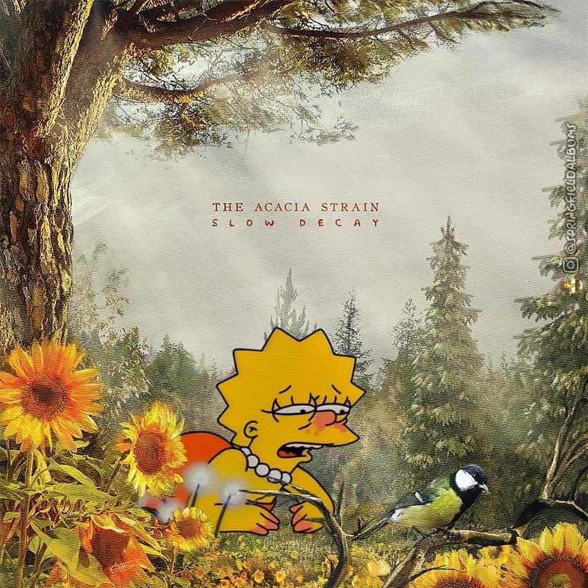 Capas de álbuns de metal divertidamente recriadas com personagens dos Simpsons 17