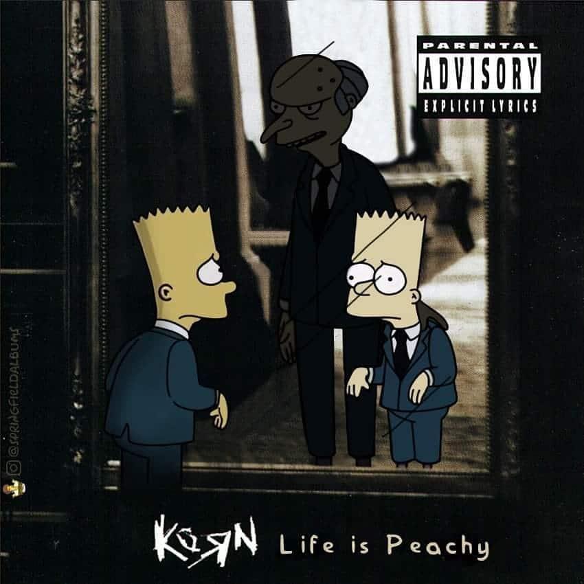 Capas de álbuns de metal divertidamente recriadas com personagens dos Simpsons 19