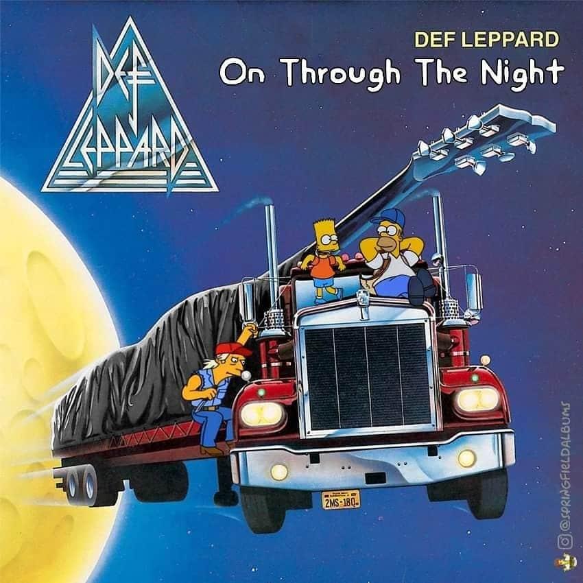 Capas de álbuns de metal divertidamente recriadas com personagens dos Simpsons 23