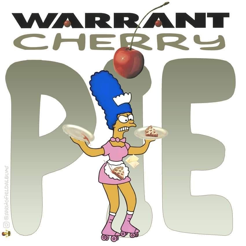 Capas de álbuns de metal divertidamente recriadas com personagens dos Simpsons 29
