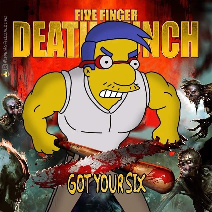 Capas de álbuns de metal divertidamente recriadas com personagens dos Simpsons 31