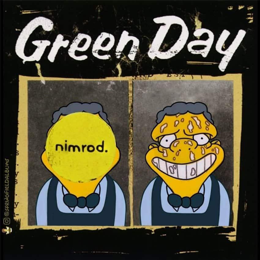 Capas de álbuns de metal divertidamente recriadas com personagens dos Simpsons 41