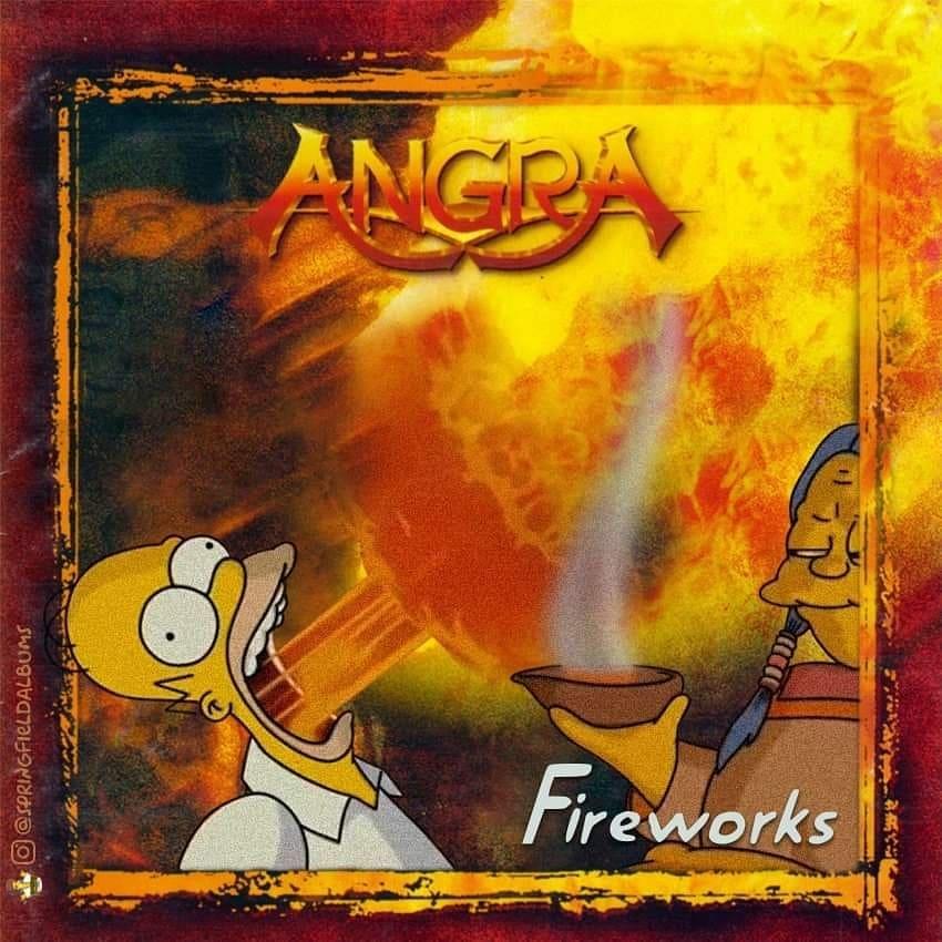 Capas de álbuns de metal divertidamente recriadas com personagens dos Simpsons 45