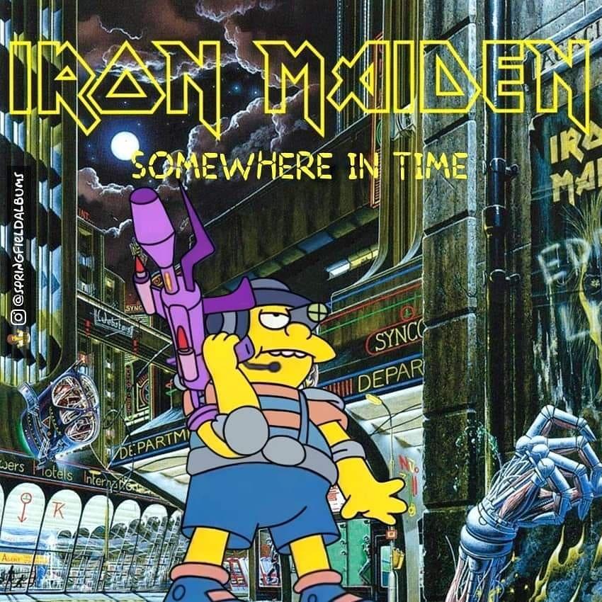 Capas de álbuns de metal divertidamente recriadas com personagens dos Simpsons 47