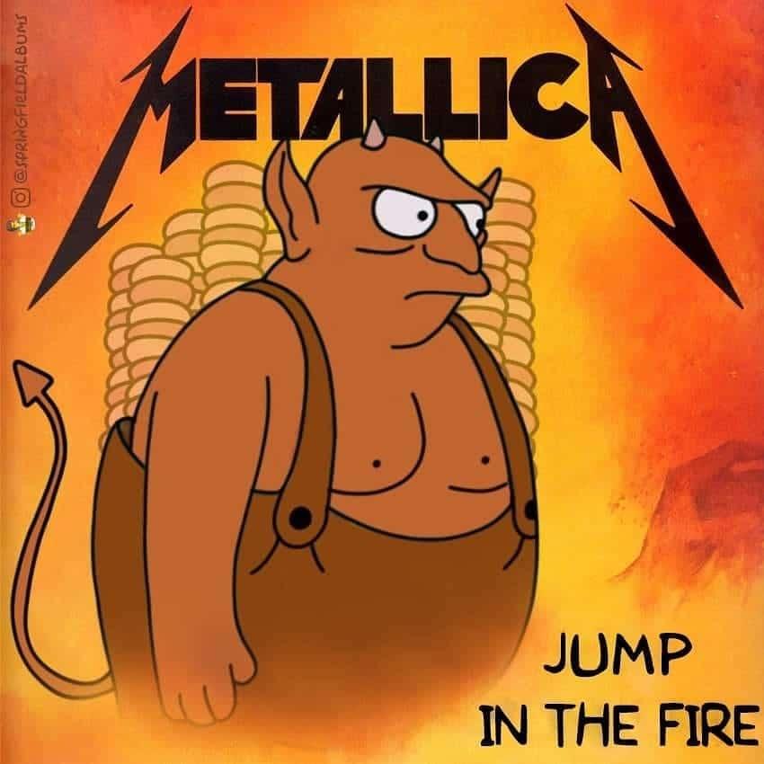 Capas de álbuns de metal divertidamente recriadas com personagens dos Simpsons 49