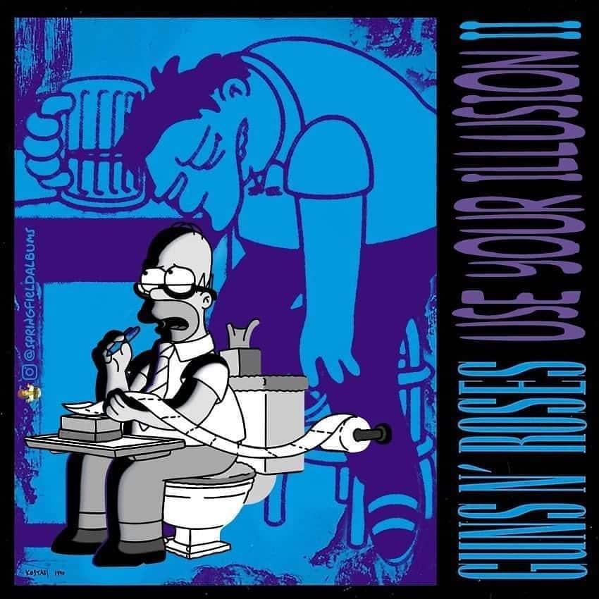 Capas de álbuns de metal divertidamente recriadas com personagens dos Simpsons 51
