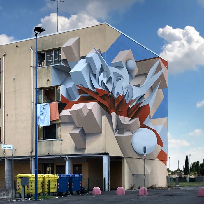 Artista cria obra surreais que parecem mudar a forma dos imóveis 8