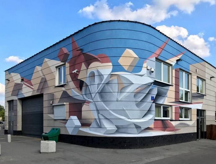 Artista cria obra surreais que parecem mudar a forma dos imóveis 9
