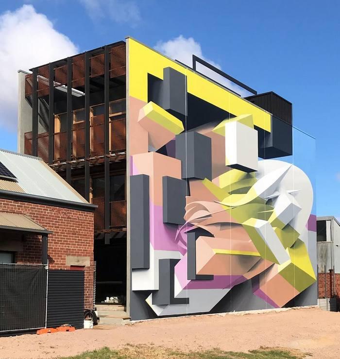Artista cria obra surreais que parecem mudar a forma dos imóveis 11