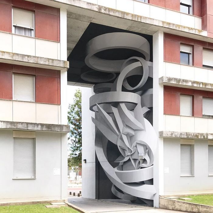 Artista cria obra surreais que parecem mudar a forma dos imóveis 12