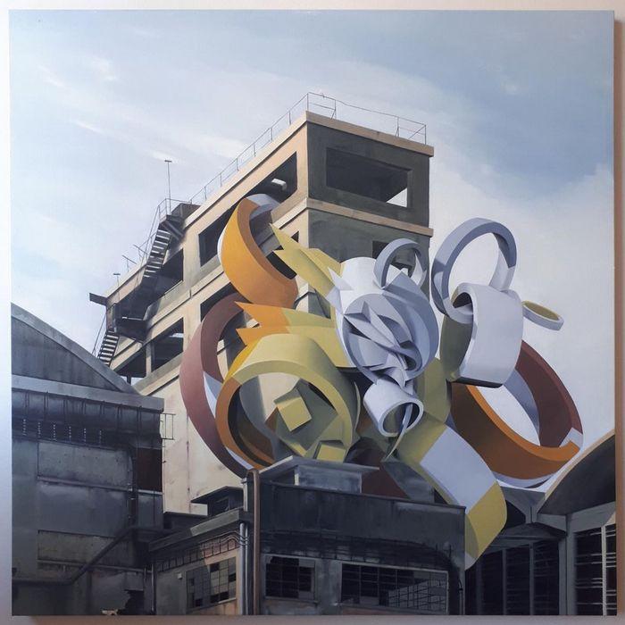 Artista cria obra surreais que parecem mudar a forma dos imóveis 13