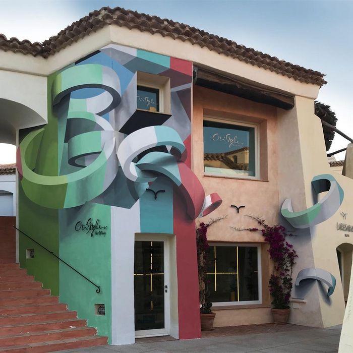 Artista cria obra surreais que parecem mudar a forma dos imóveis 14