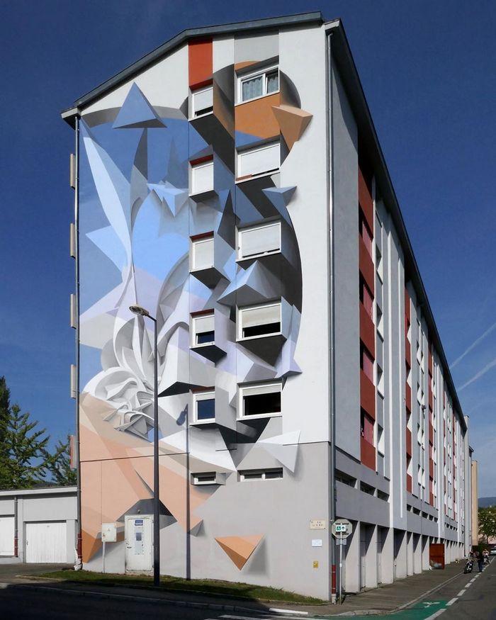 Artista cria obra surreais que parecem mudar a forma dos imóveis 19