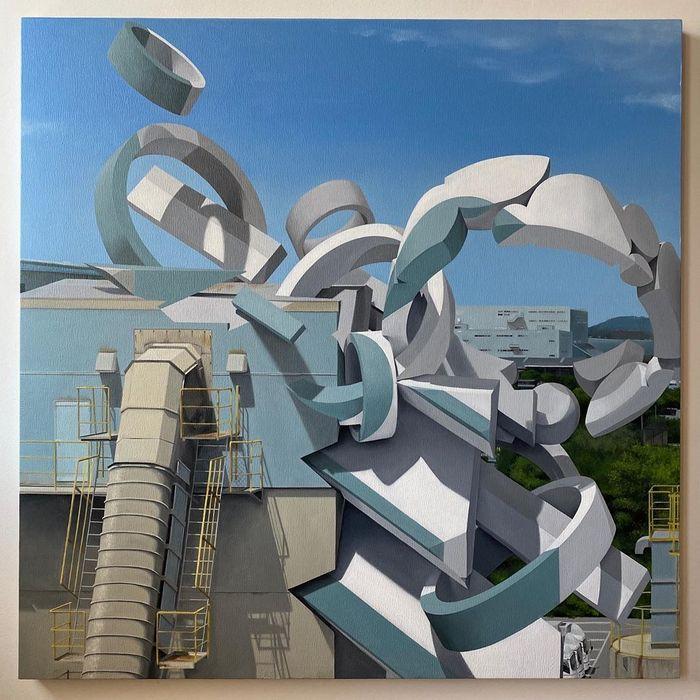 Artista cria obra surreais que parecem mudar a forma dos imóveis 21