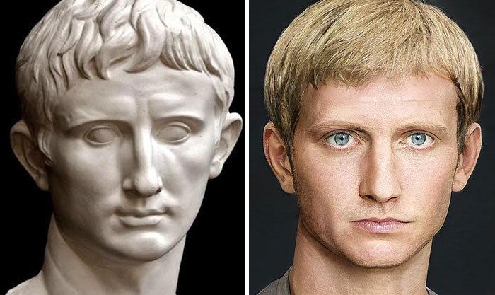 Artista mostra como os imperadores romanos eram na vida real 2