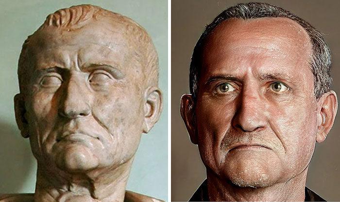 Artista mostra como os imperadores romanos eram na vida real 3