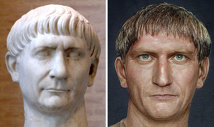 Artista mostra como os imperadores romanos eram na vida real 4