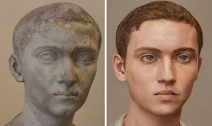 Artista mostra como os imperadores romanos eram na vida real 5