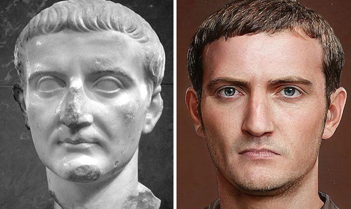 Artista mostra como os imperadores romanos eram na vida real 6