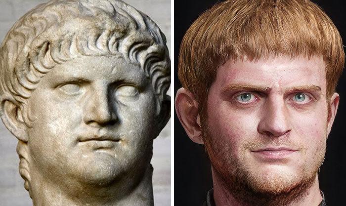 Artista mostra como os imperadores romanos eram na vida real 7