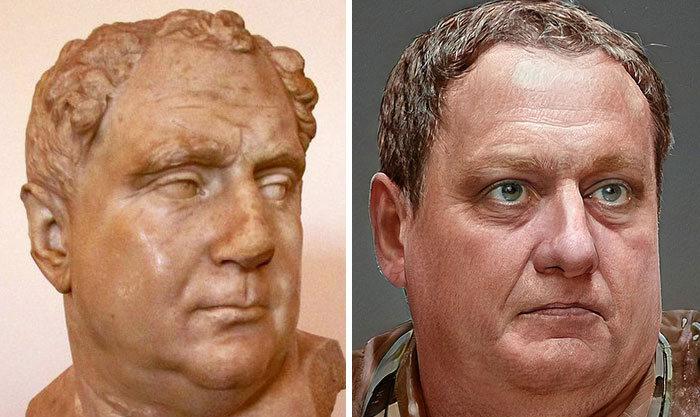 Artista mostra como os imperadores romanos eram na vida real 9