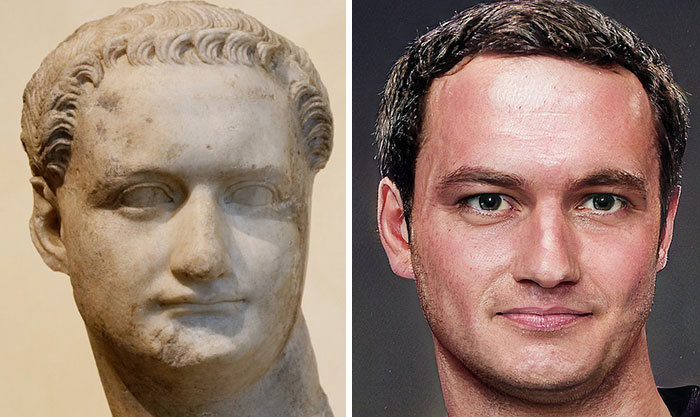 Artista mostra como os imperadores romanos eram na vida real 10