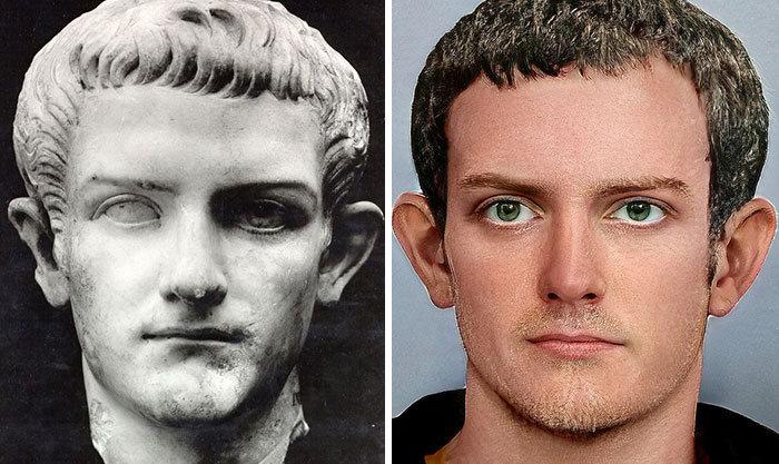 Artista mostra como os imperadores romanos eram na vida real 11