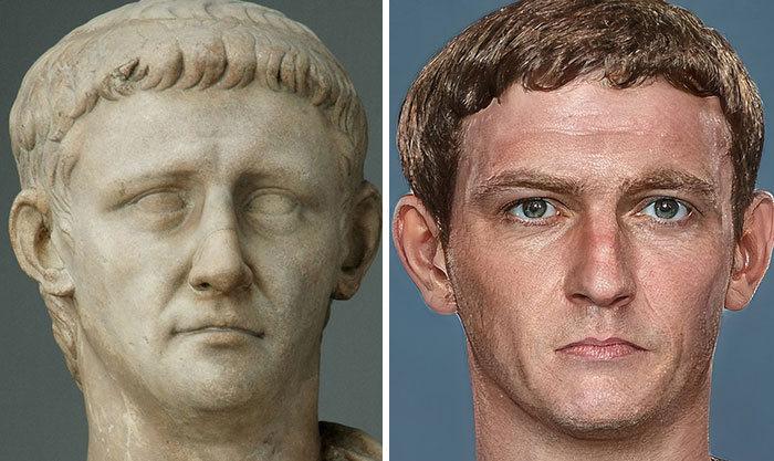 Artista mostra como os imperadores romanos eram na vida real 12