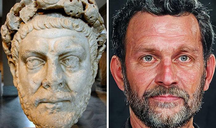 Artista mostra como os imperadores romanos eram na vida real 13