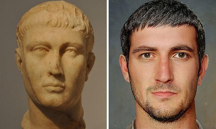 Artista mostra como os imperadores romanos eram na vida real 14