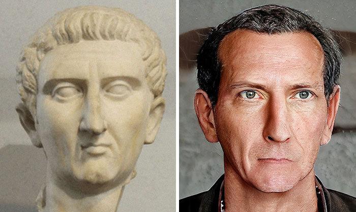 Artista mostra como os imperadores romanos eram na vida real 15