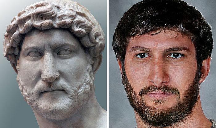 Artista mostra como os imperadores romanos eram na vida real 16