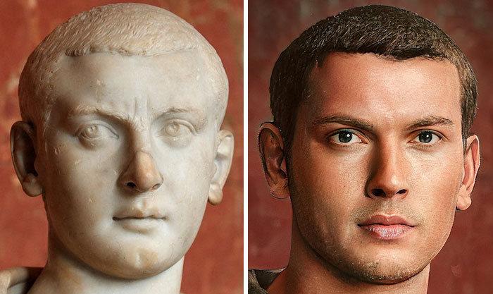 Artista mostra como os imperadores romanos eram na vida real 17