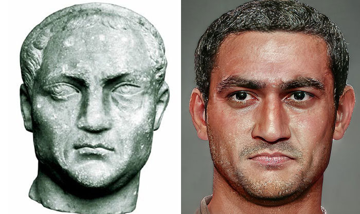 Artista mostra como os imperadores romanos eram na vida real 18