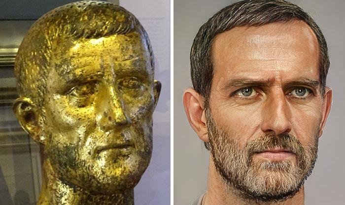 Artista mostra como os imperadores romanos eram na vida real 19