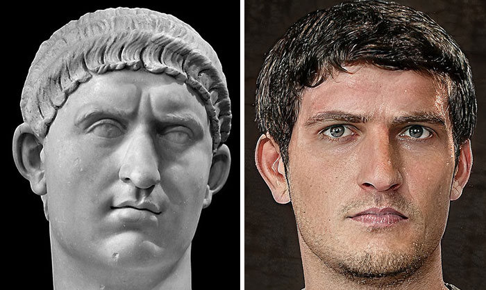 Artista mostra como os imperadores romanos eram na vida real 20